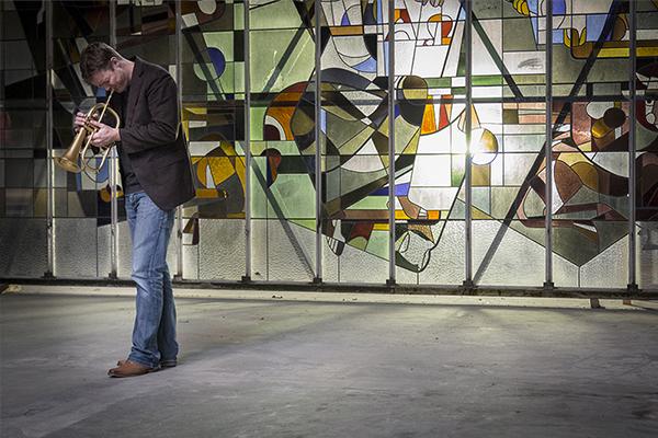Trompetist Loet van der Lee @ video-opnames People by Helen Botman (Photo: Eric Minten)