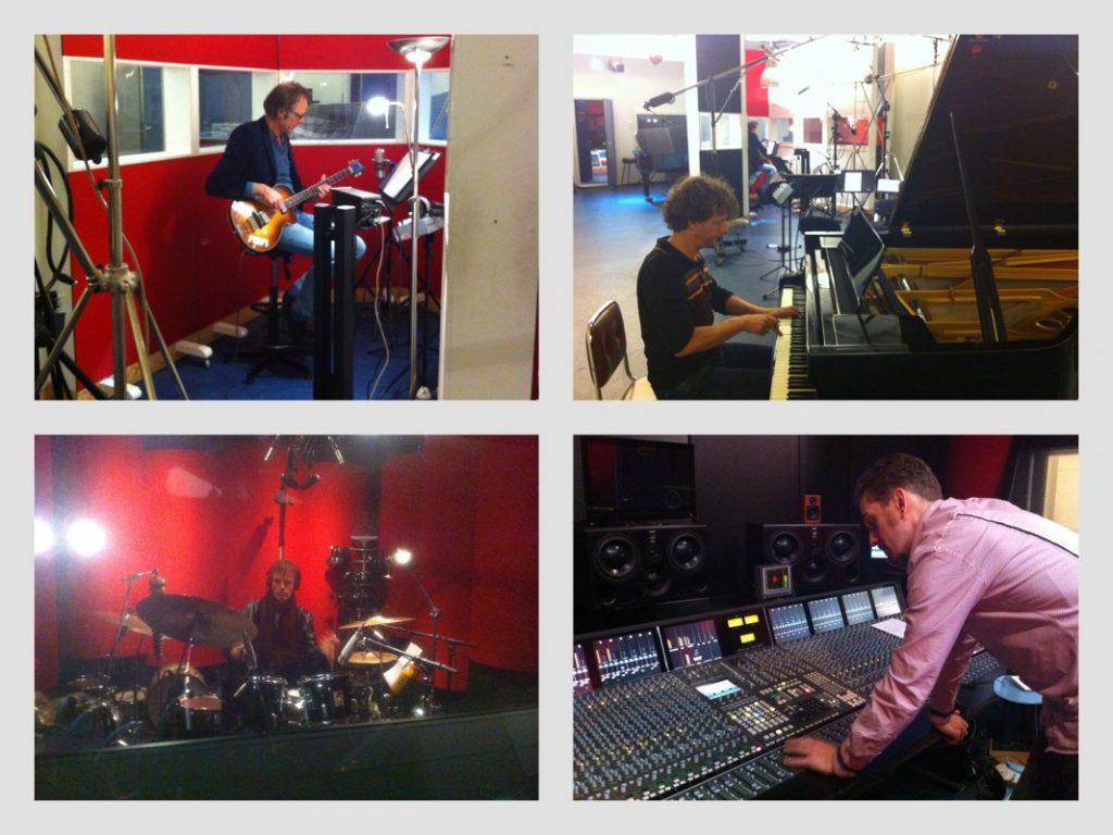 Opnames 'I Sing' in de Power Sound Studio (I Sing - Helen Botman, met: Joris Wolff, Rob Stoop, Ton Nieuwenhuizen en Arthur Lijten)