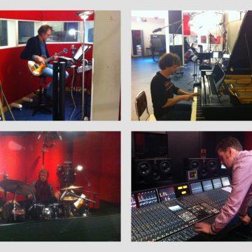 Opnemen in de Power Sound Studio (I Sing - Helen Botman, met: Joris Wolff, Rob Stoop, Ton Nieuwenhuizen en Arthur Lijten)