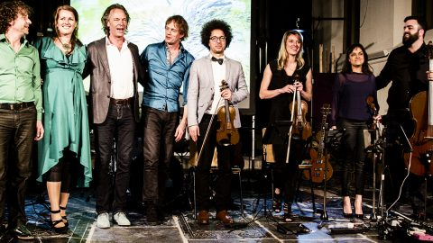 Lief Langedijk Concert 2017 - Wonderful World (vlnr: Rob Stoop, Helen Botman, Ton Nieuwenhuizen, Arthur Lijten, Sietse van Gorkom, Camilla van der Kooij, Rani Kumar, Jonas Pap)