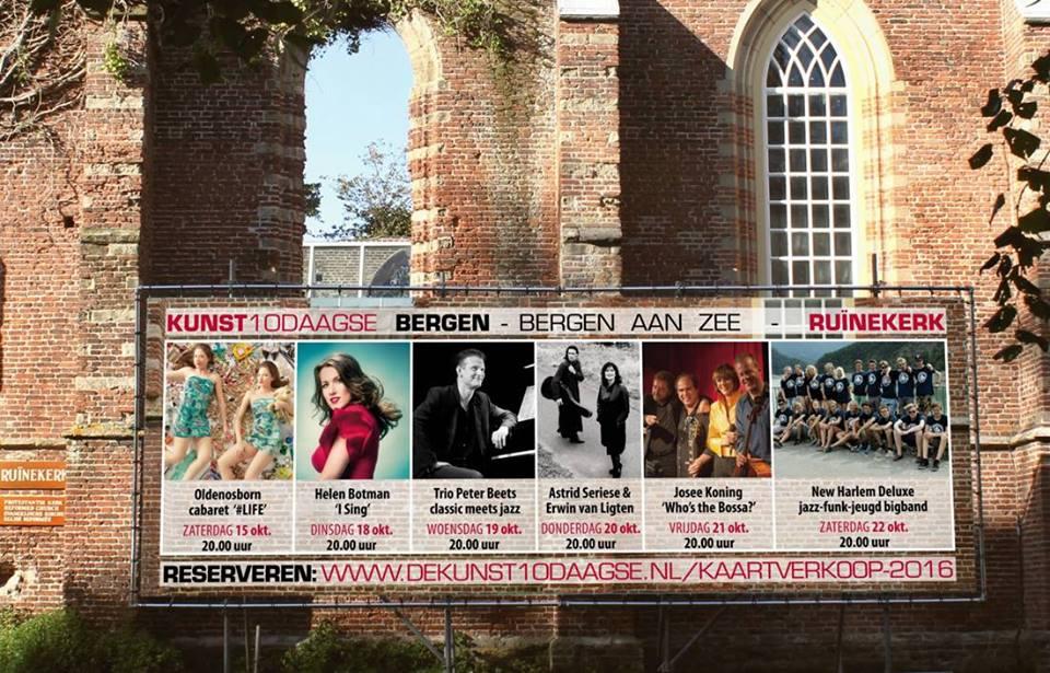 I Sing releaseconcert in de Ruinekerk tijdens de Bergense Kunst10daagse
