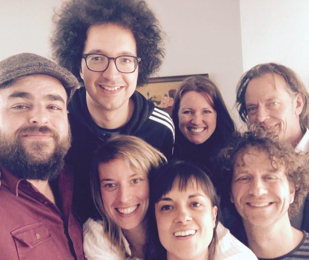Lief Langedijk Concert #6: Wonderful World (vlnr:Jonas, Sietse, Camilla, Rani, Helen, Rob, Ton)