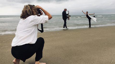 Als ik de zee maar zie - fotoshoot - Jessica Heetebrij, Victor Posch en Margriet Middel