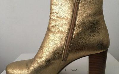 Gouden laarsjes (merk: Sézane)